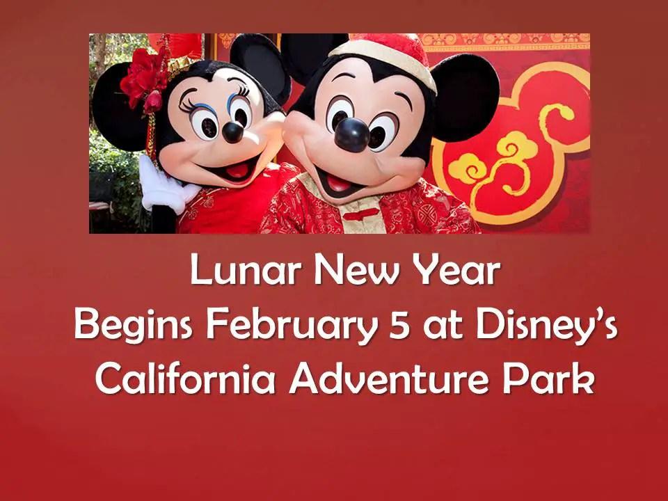 Lunar New Year begins Feb 5th at Disney's California Adventure Park