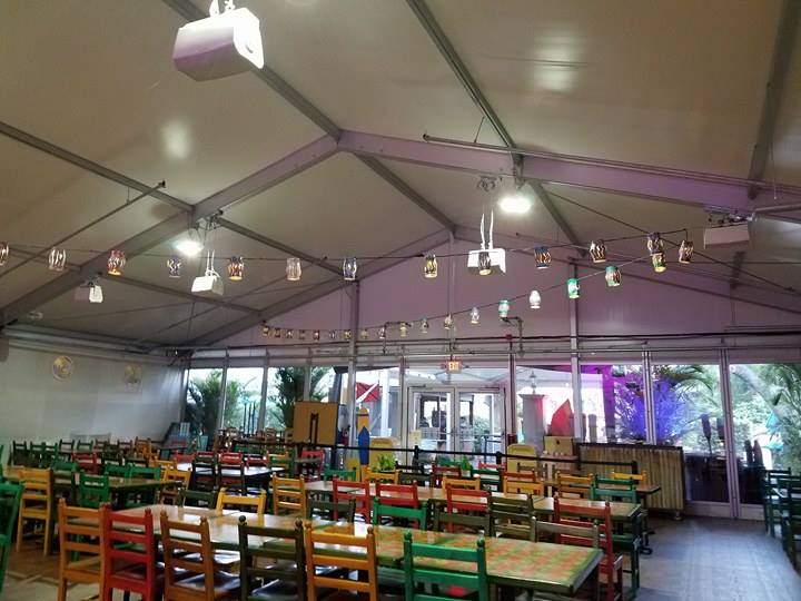 What Dining Options are Available During the Construction at Caribbean Beach Resort?