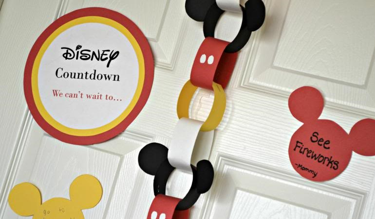Disney DIY Trip Countdown Crafts