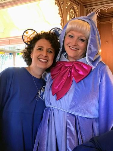Fairy Godmother character meet-n-greet Plaza Inn Disneyland