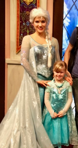Queen Elsa in Disneyland