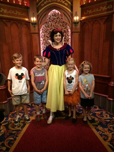 Snow White at Royal Hall in Disneyland