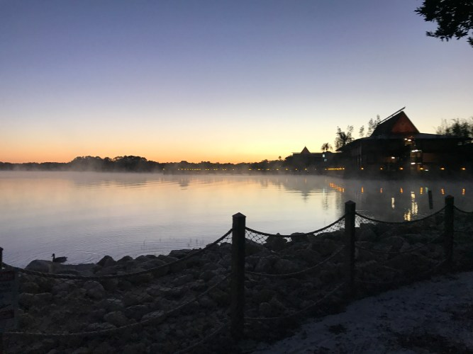 Sunrise from the Polynesian Resort