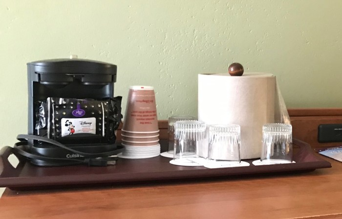 Coffee maker in Moderate Disney Resort