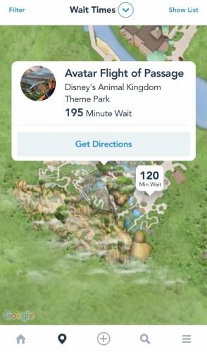 Flight of Passage Standby Wait time