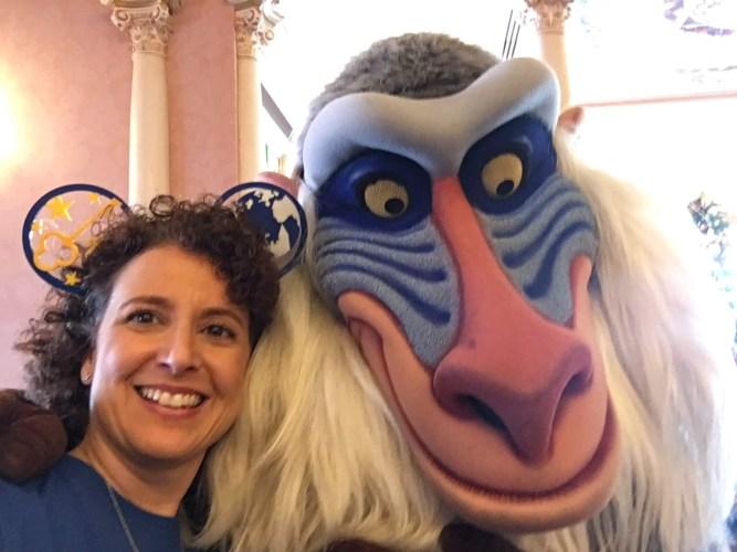 Rafiki character meet-n-greet Plaza Inn Disneyland