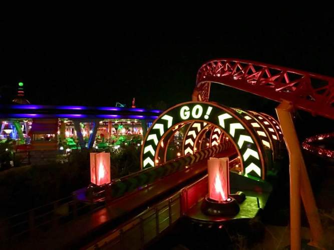 Slinky Dog Dash Hollywood Studios Night