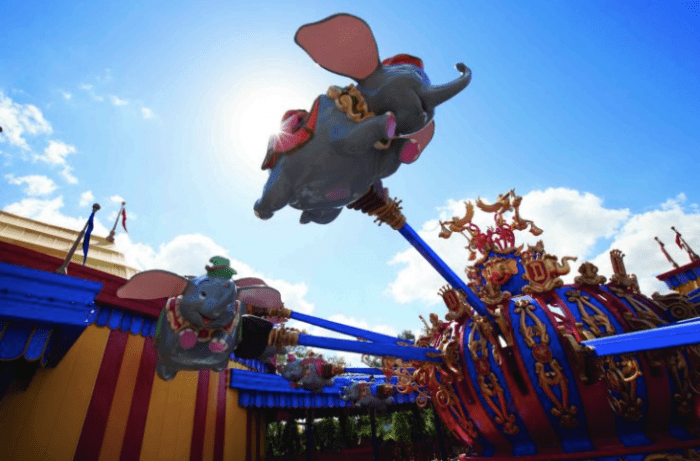 Dumbo in flight
