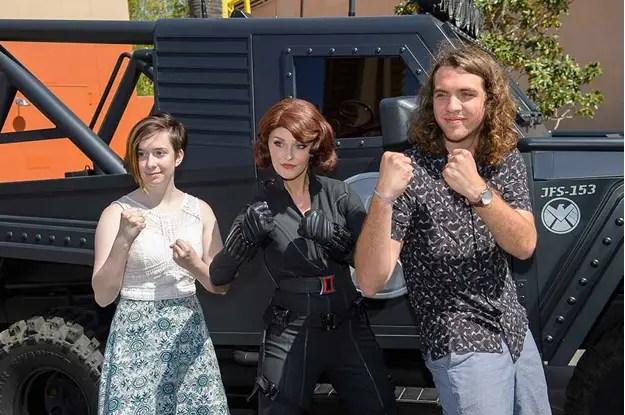 Black Widow in Disney's California Adventure
