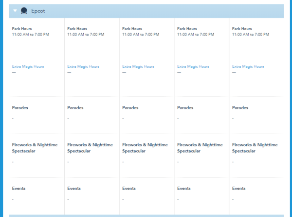 More Walt Disney World Park Hours For Fall Have Been Released 2