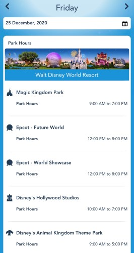 Disney World Park Hours During Christmas Week Are Now Available! 1