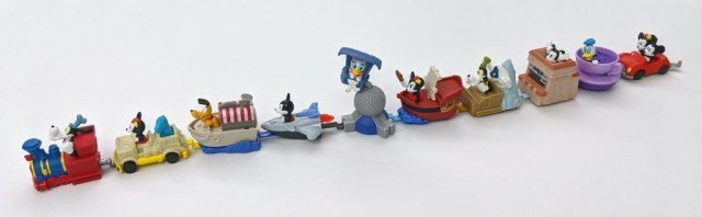 disney happy meal toys