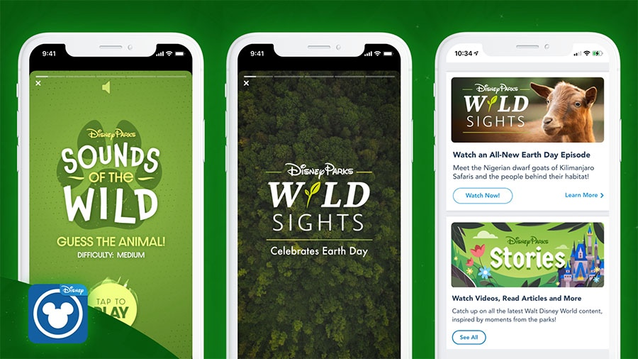 Celebrate Earth Day With The My Disney Experience App!