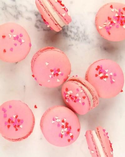 Raspberry Cream Macaron