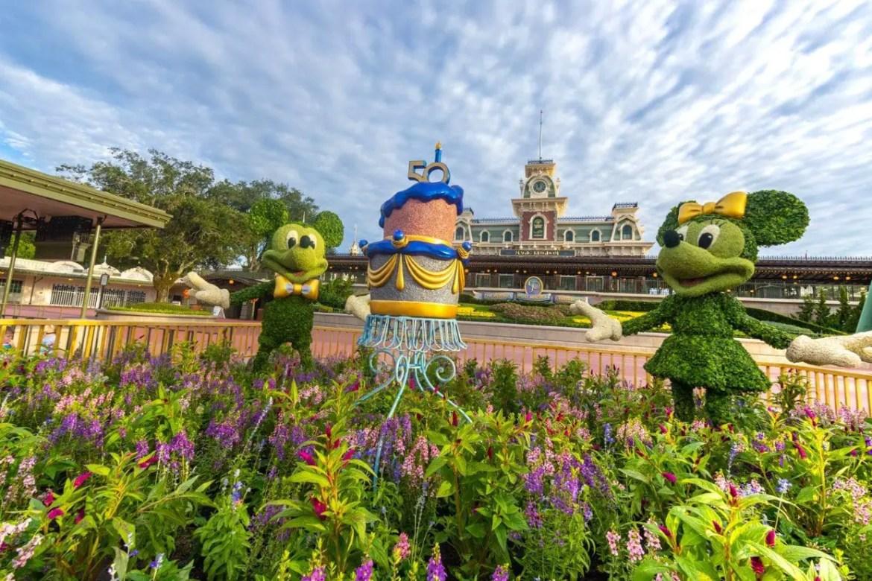 Magic Kingdom prepares for the Walt Disney World 50th Anniversary Celebration