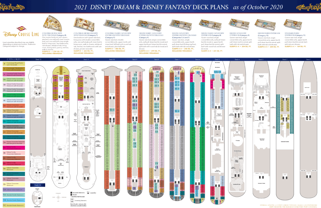DCL Deck Plans Dream Fantasy 2021