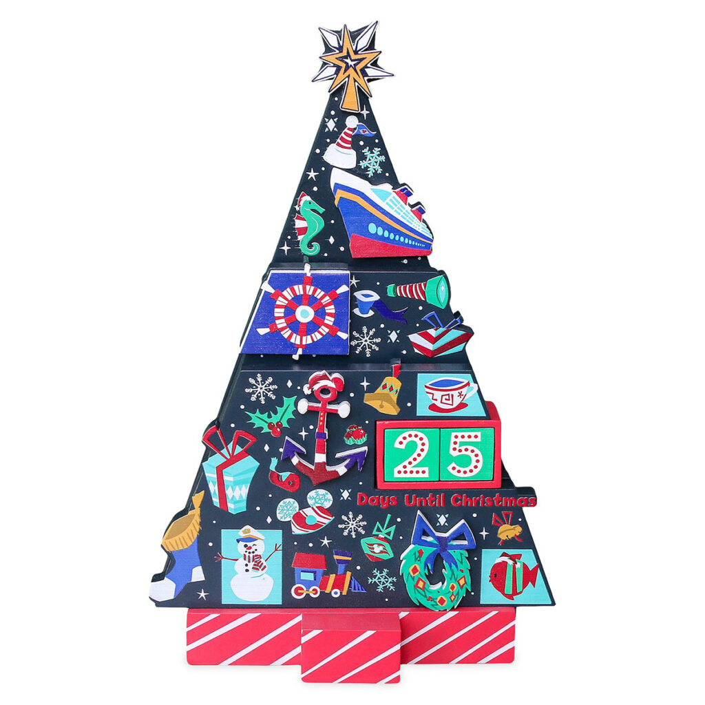 DCL Countdown Christmas Wooden Holiday Tree 2