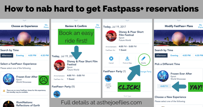Fastpass tips and tricks -refresh technique