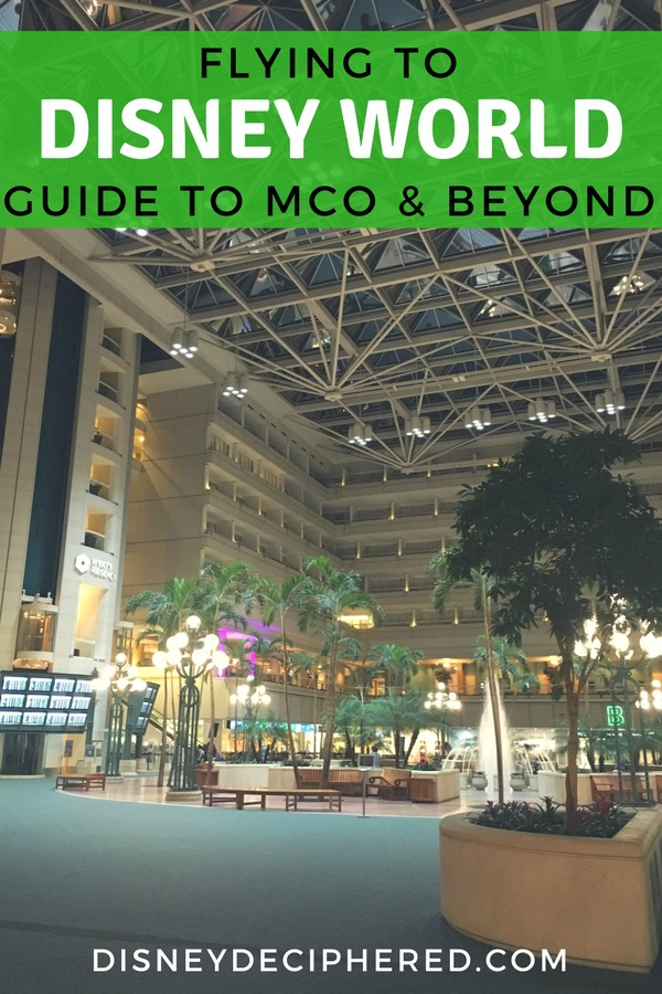 Flying to Orlando for a Walt Disney World vacation? Your guide to MCO airport plus tips for the Magical Express, ground transportation options and beyond. #disney #disneyworld #orlando #mco #disneydeciphered