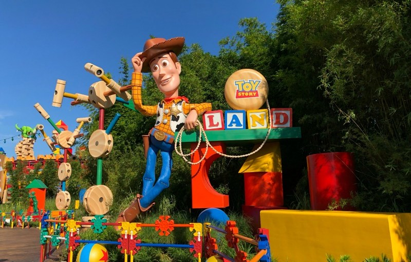 Toy Story Land Entrance Woody