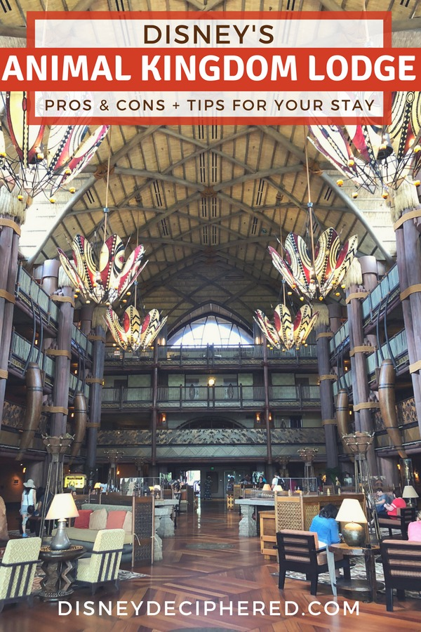 Considering a stay at Disney's Animal Kingdom Lodge? Top tips plus the pros and cons of this Disney deluxe resort hotel. A look inside the rooms, restaurants, pool, and overall impressions. #Disney #DisneyWorld #AnimalKingdomLodge #AKL
