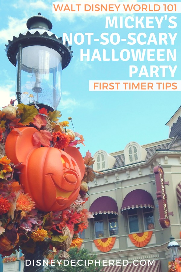 Planning a first time trip to Mickey's Not-So-Scary Halloween Party in Walt Disney World? Tips for beginners to this special ticketed event in the Magic Kingdom every fall. #MNSSHP #Disney #DisneyWorld #MickeysNotSoScaryHalloweenParty #Halloween #FallTravel