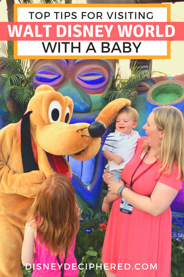 Planning a family Disney World vacation with a baby or toddler? Everything you need to know about a Disney trip with a little one: strollers, the best rides, how to use Rider Switch, all about the Baby Care Centers, and more. #Disney #DisneyKids #DisneySMMC #DisneyDeciphered #DisneyWorld