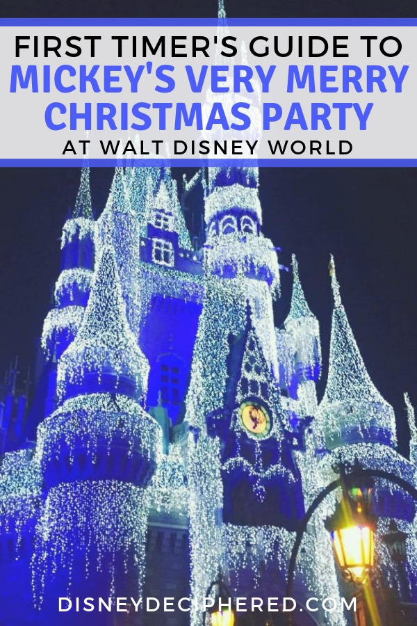 Planning a trip to Mickey's Very Merry Christmas Party at Walt Disney World this year? Don't miss this guide with tips and tricks for first timers. Once Upon a Christmastime Parade, Holiday Wishes fireworks, and the best holiday food and drink. #MVMCP #Disney #DisneyWorld #DisneyHolidays