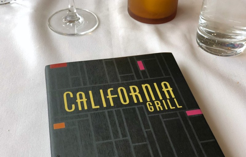 Disney World Date Night - California Grill Menu