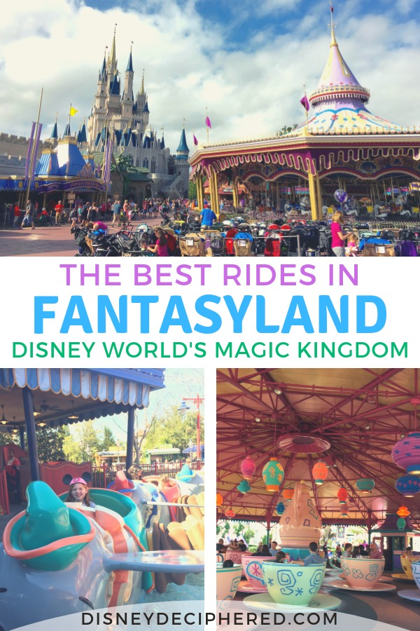 Guide to all the rides and attractions in Fantasyland in Walt Disney World's Magic Kingdom. Tips, tricks, which ones are can't miss, and which rides you can skip. #disneyworld #fantasyland #disneydeciphered
