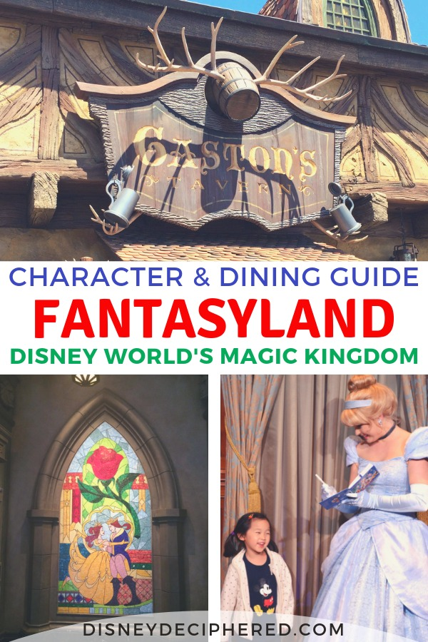 Visiting Fantasyland in Disney World's Magic Kingdom? Get a comprehensive look at the character meet-and-greets and the quick service dining restaurants to help plan your Disney day. #fantasyland #disneycharacters #magickingdom #disneyworld