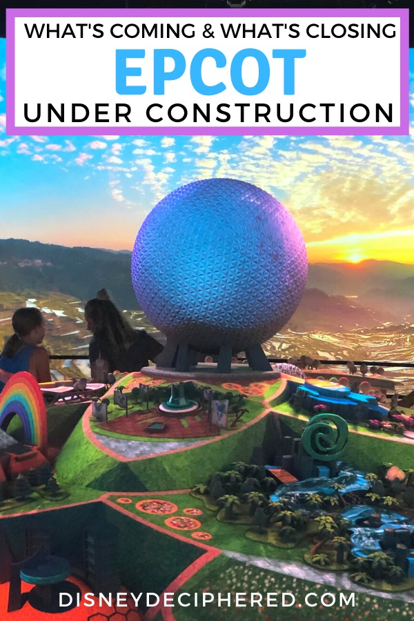 Epcot at Walt Disney World is a park under construction in 2019, 2020, 2021 and beyond. Should you skip Epcot? Get tips for a successful visit during the construction periods and a sneak peak at what's coming. #epcot #epcotexperience #disneyworld