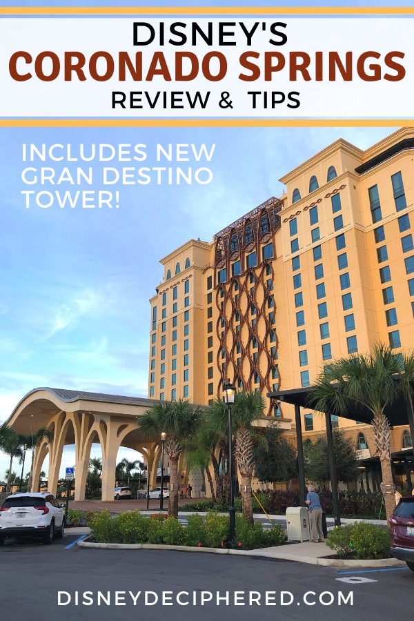 Considering a stay at Disney's Coronado Springs Resort? A firsthand review of the new Grand Destino Tower, tips for staying at Coronado Springs, plus the pros and cons of this Disney moderate resort hotel. A look inside the rooms, restaurants, pool, and overall impressions. #Disney #DisneyWorld #CoronadoSprings #GranDestino