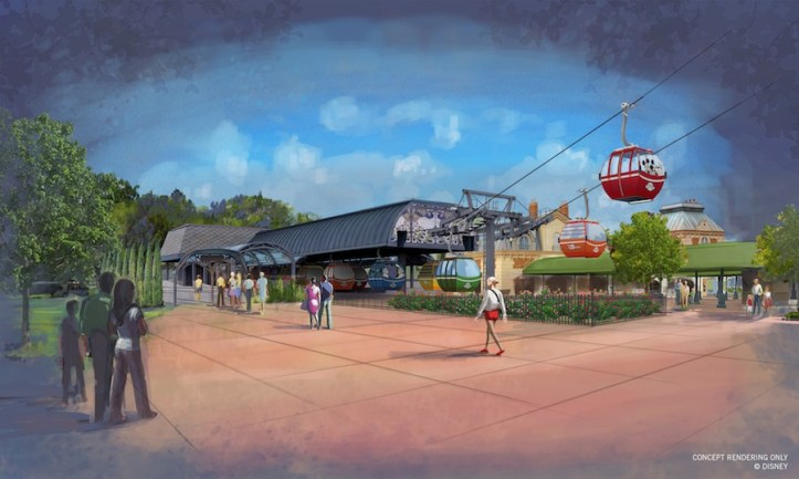 The International Gateway at Epcot Disney Skyliner station is inspired by the nearby European Pavilions.