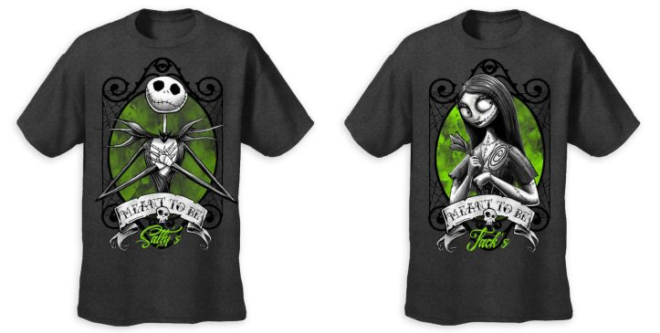 Limited release Jack and Sally Valentine's Day t-shirts