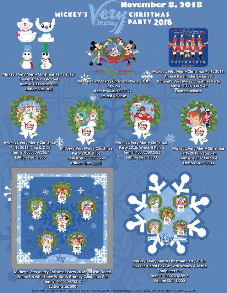 Mickeys Very Merry Christmas Party 2019 Tickets.Mickey S Very Merry Christmas Pins For 2018 Unveiled