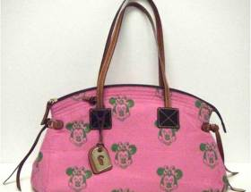 Minnie Pink Canvas Satchel