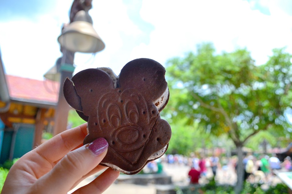 Mickey shaped snacks