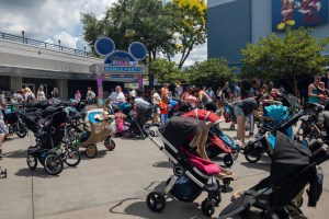 Stroller parking at Disney
