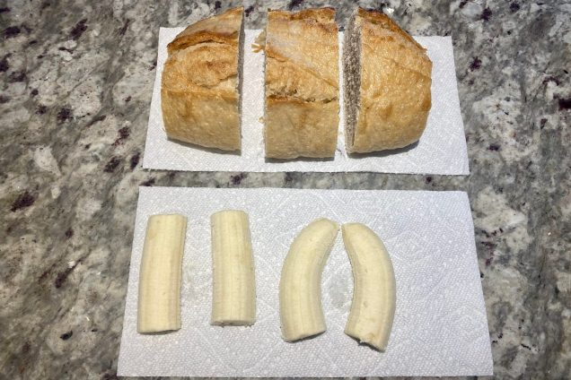 Cut Bread and Bananas