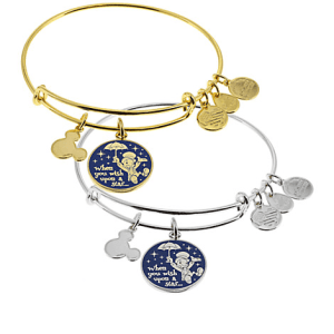 """Jiminy Cricket """"When You Wish Upon a Star . . ."""" Bangle by Alex and Ani (blue)"""