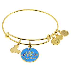 """Snow White """"Whistle While You Work"""" Bangle by Alex and Ani (blue)"""