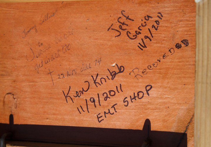 Welte Orchestrion Workers Signature