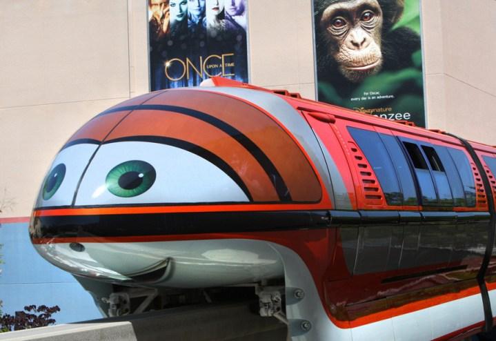 Cars Land Monorails Disneyland 2