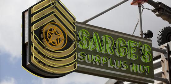 Sarges Surplus Hut Cars Land
