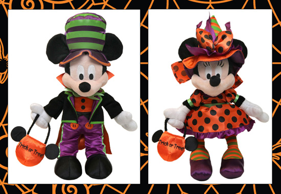 Disneyland Halloween Time Merchandise Mickey And Minnie Plush Dolls