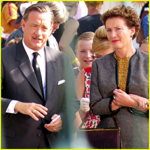 Tom Hanks Walt Disney Saving Mr Banks Taping