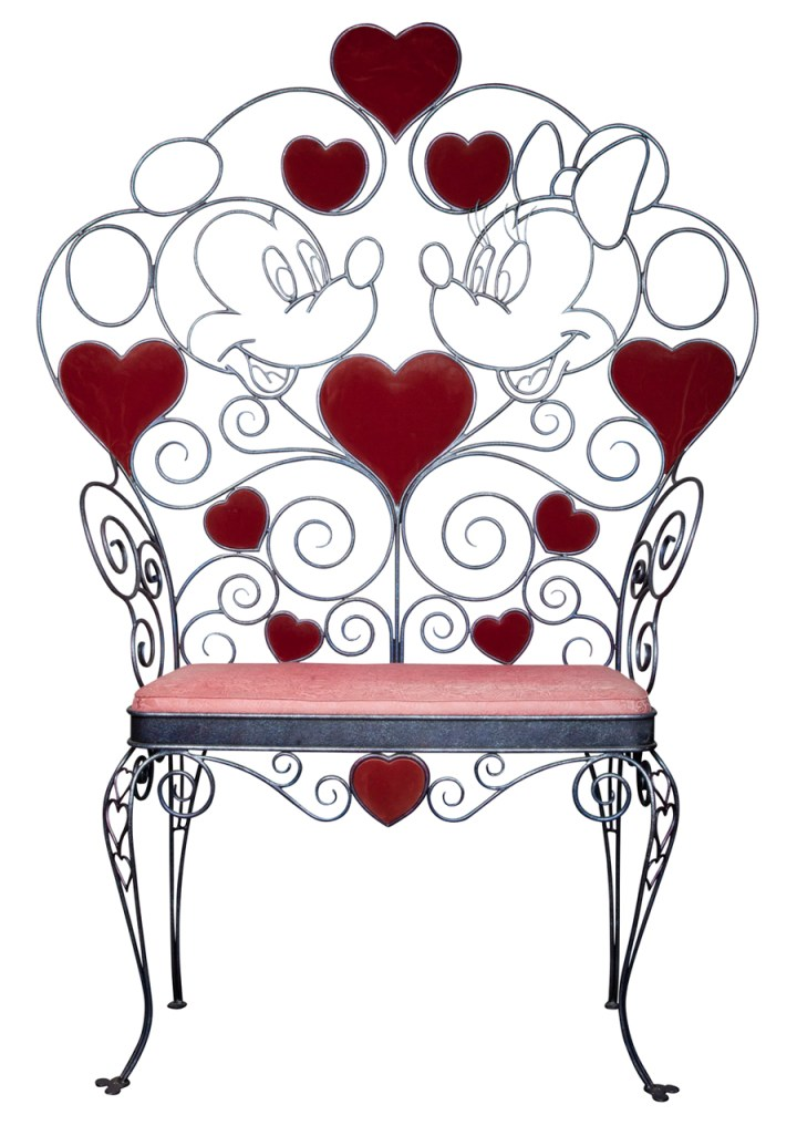 D23 Silent Auction Mickey And Minnie Love Seat