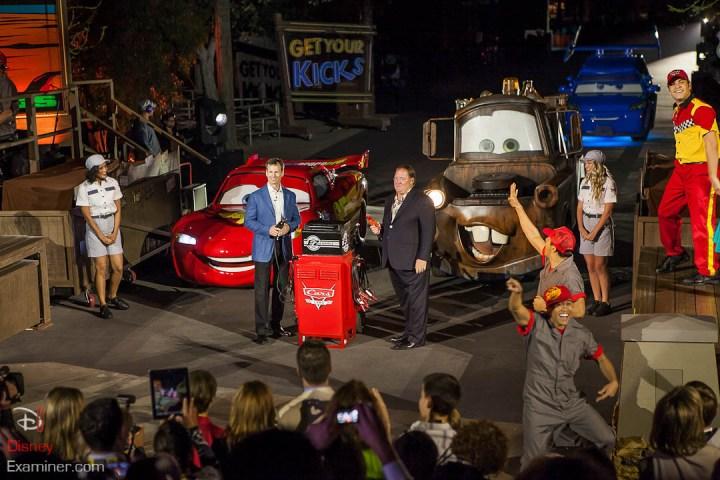 Disney California Adventure Grand Reopening Disneyexaminer Coverage Day 1 Entry Tom Staggs John Lasetter