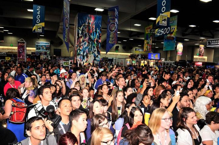 Disney Marvel Booth Crowds 2013 Comic Con International San Diego